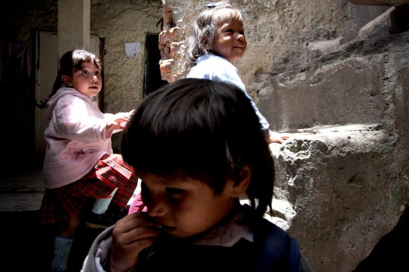 Familia desplazada en Bogotá/ Colombia