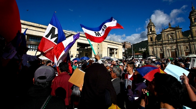 Manifestacion en Bogotá, Bogotá/ Colombia